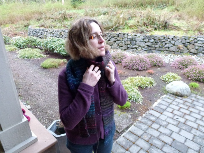 Lever-knit Scarf